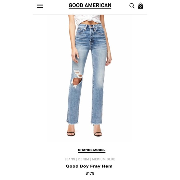 Good American Denim - Good American Good Boy Blue316 Jeans
